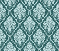 Seamless ornate damask Wallpaper for design. Ornament with bouquet of Flowers. Royalty Free Stock Photo