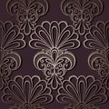 Seamless ornate floral pattern vector Stock Photo