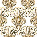 Seamless ornate floral pattern vector Royalty Free Stock Photo