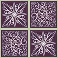 Seamless ornate floral pattern vector Royalty Free Stock Photos