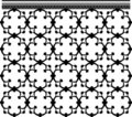 Seamless ornate grid Stock Images