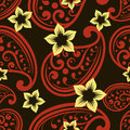 Seamless ornate wallpaper Royalty Free Stock Images