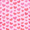 Seamless Outline Hearts Patten...
