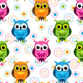 Seamless owl pattern Stock Photos