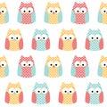Seamless owls background