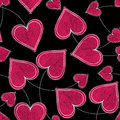 Seamless Paired Heart Background Royalty Free Stock Images