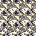 Seamless paisley backgroun pattern Stock Images