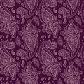 Seamless paisley background elegant hand drawn pattern Royalty Free Stock Photo