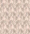 Seamless paisley background with vertical lines Stock Images