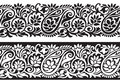 Seamless paisley border vector designer Stock Photography