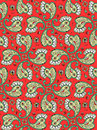 Seamless paisley pattern easy to repeat print background or wallpaper pixel aligned swatch included tiles here Royalty Free Stock Photos