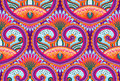 Seamless paisley pattern vector wallpaper Stock Photography