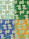 Seamless paisley patterns four pixel aligned tiles separated Royalty Free Stock Image