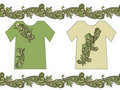 Seamless paisley and t-shirts Royalty Free Stock Images
