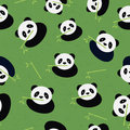 Seamless panda bear pattern vector illustration Royalty Free Stock Photography