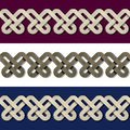 Seamless paper knot frame background illustration for the web Royalty Free Stock Photo