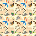 Seamless park playground pattern Stock Image