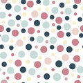 Seamless party pattern with different sizes dots. Backdrop, wrapping, fabric design.