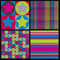 Seamless Party Pattern Set Royalty Free Stock Images