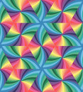 Seamless Pastel Colored Wavy Triangles Pattern. Geometric Abstract Background.