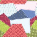 Seamless patchwork background pattern. Stock Photography