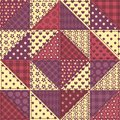 Seamless patchwork claret color pattern background Stock Image