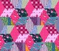 Seamless patchwork pattern.