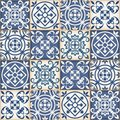 Seamless patchwork pattern , Moroccan tiles