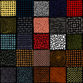 Seamless patchwork pattern. Simple square patches. Doodle, hand