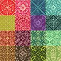 Seamless pattens patten collection with damask ornament Stock Image