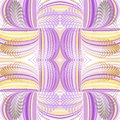 Seamless pattern abstract background with complicated ornament of threads, knots and halftone points.Cn