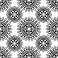 Siamless pattern. sentagle. isolate. vector.