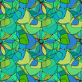 Seamless pattern with abstract broken colorful shapes