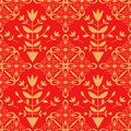 Seamless pattern with abstract decorative ornament Royalty Free Stock Photo