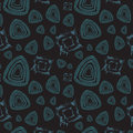 Seamless pattern with abstract figures Stock Image