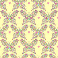 Seamless pattern with abstract floral butterflies Stock Image