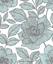 Seamless pattern with abstract flowers. Creative floral surface design. Design for fabric, wallpaper, wrapping, cover.