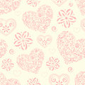 Seamless pattern with abstract hearts Royalty Free Stock Images