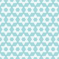 Seamless Pattern Abstract Stars Made Of Circles Turquoise White
