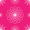 Seamless pattern abstract white stars pink Stock Photos