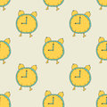 Seamless pattern: Alarm Clock Royalty Free Stock Photo
