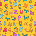 Seamless pattern with alphabet Royalty Free Stock Images