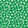 Seamless pattern with alphabet letters.