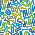 Seamless pattern with alphabet letters green and blue vector background Royalty Free Stock Images