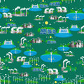 Seamless pattern alternative energy green power, environment save, renewable turbine energy, wind and solar ecology