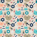 Seamless pattern with animals Royalty Free Stock Photo