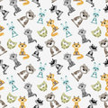 Seamless pattern with animals Stock Photos