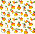 Seamless pattern with apples Royalty Free Stock Image