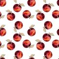 Seamless pattern, apples, watercolor, modern design Royalty Free Stock Photo