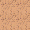 Seamless pattern with arrows, bows and heart